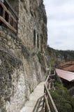 Basarbovo岩石修道院 免版税库存照片
