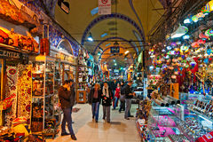 basaren storslagna istanbul shoppar Arkivbild