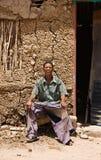 Basarwa man royalty free stock image