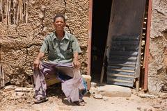 Basarwa man Royalty Free Stock Photography