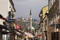 Bascarsija – old bazaar in Sarajevo. Bosnia and Herzegovina Stock Photos