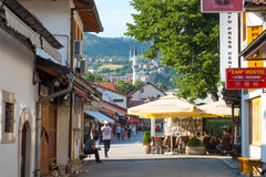 Bascarsija – the old bazaar in Sarajevo. Bosnia and Herzegovina on July 12 2017 Stock Photography