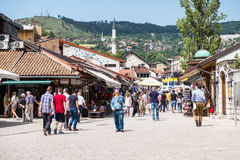 """Bascarsija-†""""der alte Basar in Sarajevo Bosnien und Herzegowina am 12. Juli 2017 Stockfoto"""