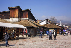 Bascarsija – old bazaar in Sarajevo. Bosnia and Herzegovina Stock Photo