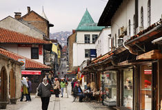 Bascarsija – old bazaar in Sarajevo. Bosnia and Herzegovina Royalty Free Stock Photography