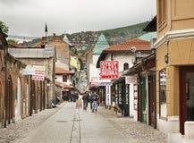 Bascarsija in Sarajevo. Bosnia and Herzegovina Royalty Free Stock Photos