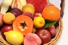 Bascket of fruits Royalty Free Stock Photo