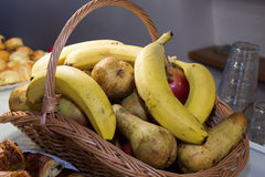Bascket with fruits Stock Photography