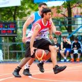 Bascketball spelare Royaltyfria Bilder