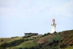 Basco lighthouse at Batan island in Batanes, Philippines. Royalty Free Stock Image