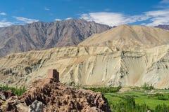 Basco monaster, punkt zwrotny Leh miasto, Ladakh, Jammu Kaszmir, Ind Fotografia Stock