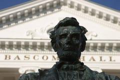 bascom大厅林肯中间名uw 免版税库存照片