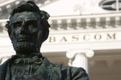 bascom大厅离开林肯uw 免版税库存图片