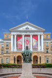 Bascom Hall auf dem Campus der Universität von Wisconsin-Madison stockfotos