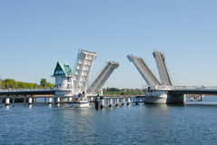 Bascule bridge Royalty Free Stock Image