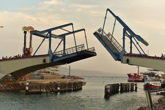 Bascule bridge in Eilat, Israel Stock Photos
