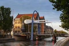 Bascule bridge Leeuwarden Netherlands Stock Photo