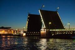 Bascule bridge in Saint Petersburg Royalty Free Stock Images