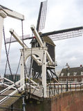Bascule bridge and windmill in Heusden. Royalty Free Stock Photography