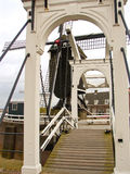 Bascule bridge and windmill in Heusden. Stock Images