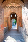 Bascule brug in het kasteel van Ferrara Royalty-vrije Stock Foto