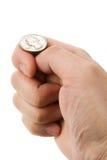 basculement de pièce de monnaie Photo libre de droits