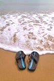 Bascules électroniques à la plage Images libres de droits