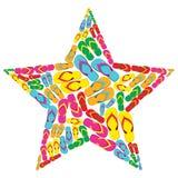 Bascules électroniques d'été dans la forme d'étoile illustration libre de droits