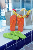 Bascules électroniques et accessoires de piscine Photographie stock