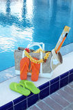 Bascules électroniques et accessoires de piscine Image libre de droits