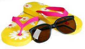 Bascules électroniques et lunettes de soleil Photo stock