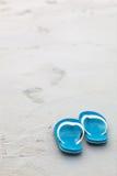 Bascules bleues sur la plage Photographie stock