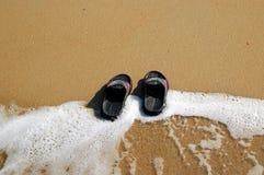 Bascules sur la plage Photos libres de droits
