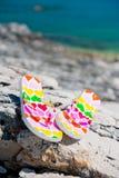 Bascules sur la plage Photo stock