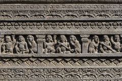 Basculez le fond de texture de découpages d'Ellora Caves dans Aurangabad, Inde Un site de patrimoine mondial de l'UNESCO dans le  Photo libre de droits