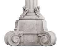 Base ancient marble column Royalty Free Stock Photography