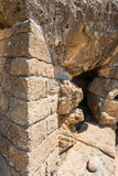 Base of ancient Temple of Heracles in Agrigento Stock Photography