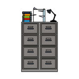 100 BASE. Archive office supplies icon image vector illustration design Stock Photo