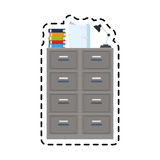 100 BASE. Archive office supplies icon image vector illustration design Stock Photography