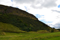Base of Arthur's Seat in Scotland Stock Image