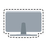 100 BASE. Back of computer monitor icon image vector illustration design Stock Photography