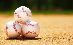 base-ball Boules sur le champ photos libres de droits