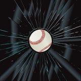 Base-ball cassé en verre 2 Photos libres de droits