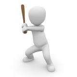 Base-ball 3D Image libre de droits