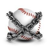 base-ball 3d dans les chaînes illustration libre de droits