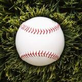 Base-ball dans l'herbe. images stock