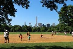 Base-ball dans le Central Park Images stock