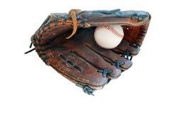 Base-ball dans le gant en cuir Images libres de droits