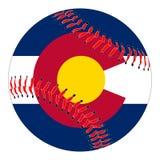 Base-ball de drapeau du Colorado Illustration de Vecteur