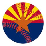 Base-ball de drapeau de l'Arizona Photographie stock libre de droits